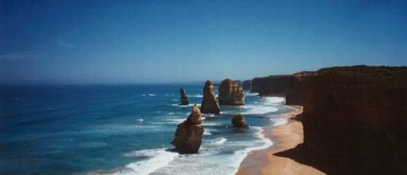 Das linksist der imposante island archway und rechts die bekannte